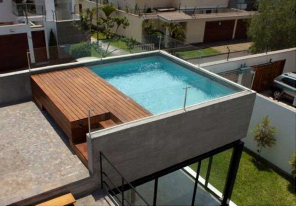Desain Kolam Rooftop dengan Ukuran Mini