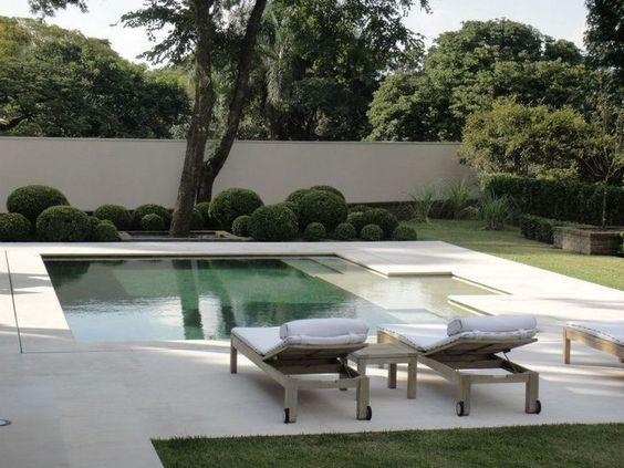Garden side pool