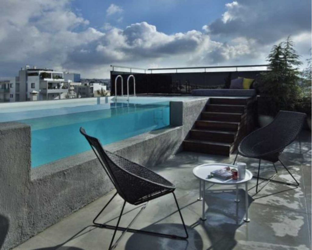 Rooftop Swimming Pool kecil