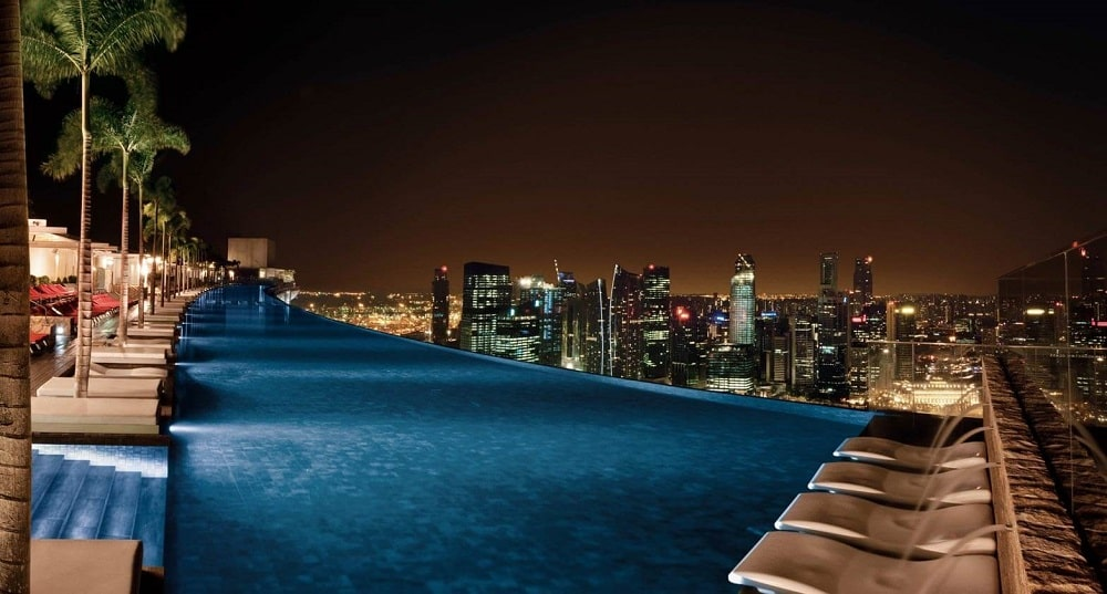 infinity pool @Marina Bay Sands