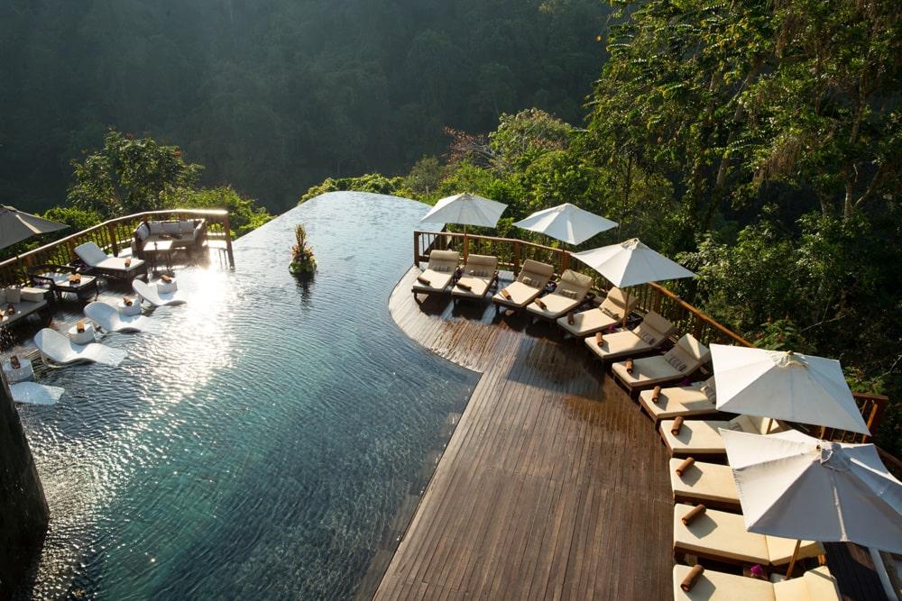infinity pool @hanginggardensofbali