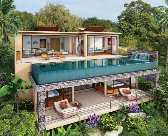 kolam renang rooftop dinding kaca